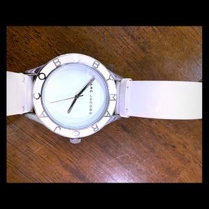 Marc Jacobs Watch- patent white leather